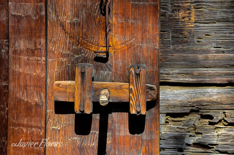 Detail of Wooden Door lock