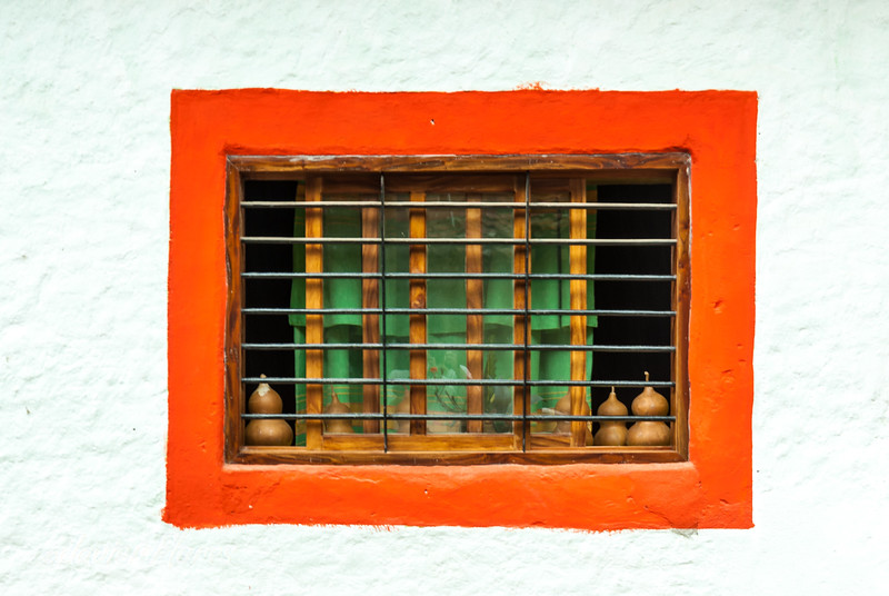Colorful Bared Window