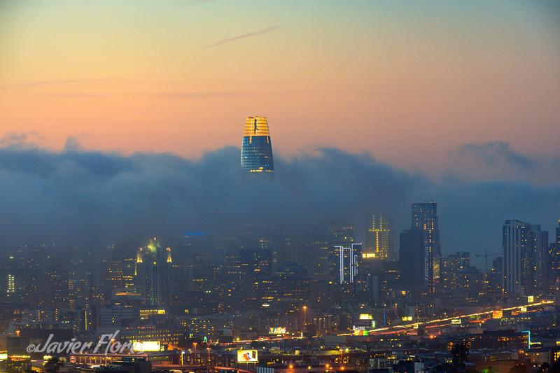 San Francisco Rolling Fog Sunset
