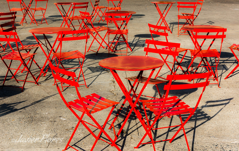 Red Tables and Chairs