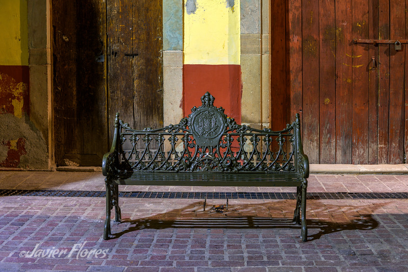Bench and Old Doors