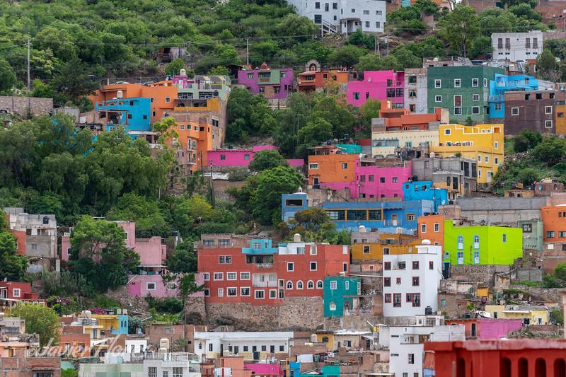 Colorful Homes in Guanajuato Mexico