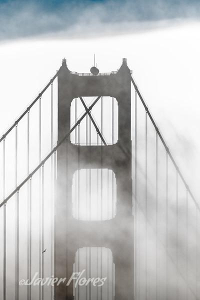 Golden Gate Bridge Tower in the Fog