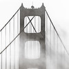 Golden Gate Bridge Tower in the Fog