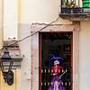 La Catrina in a Window, Guanajuato
