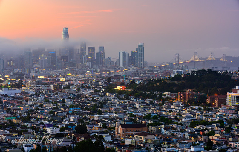 San Francisco Skyline at Sunset