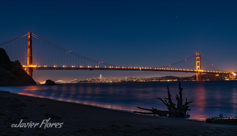 Golden Gate With San Francisco Skyline
