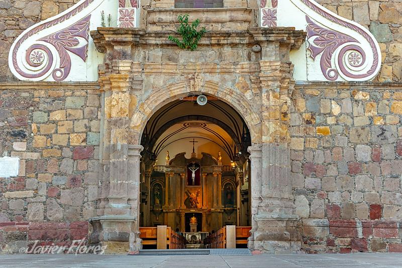 Front Door of Nuestra Señora Del Rosario at Ajijic Jalisco