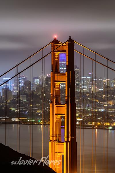 Golden Gate Bridge and City Skyline