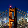Golden Gate Bridge and City Skyline