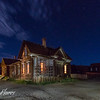 Bodie house at night