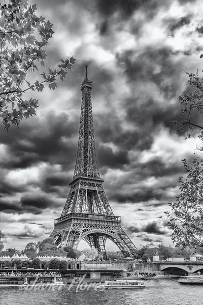 Eiffel Tower with Seine River