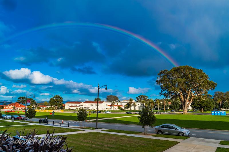 Rainbow Over The Presidio San Francisco