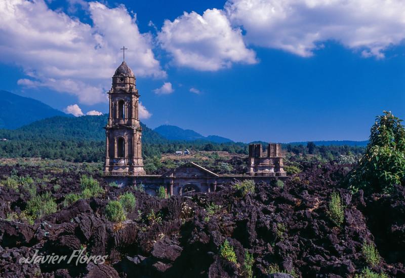 Old San Juan Church in Lava Field