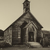 Bodie Church in Black and White