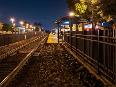 City of Orange, California at Night
