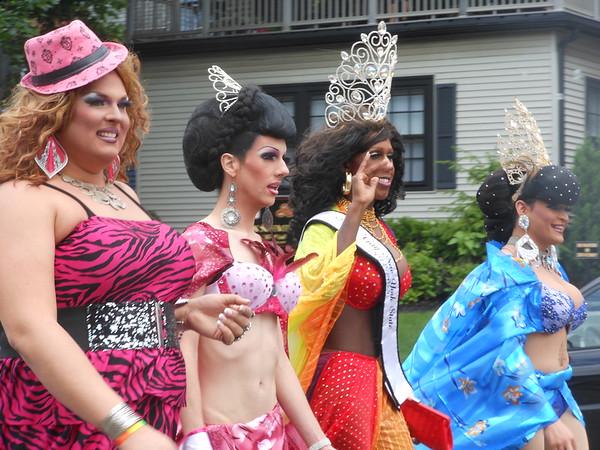 Pride Parade along Elmwood Ave. in Buffalo, NY June, 2012
