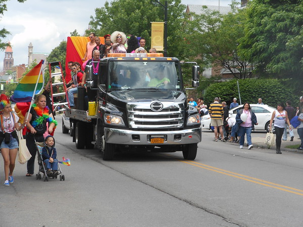 Pride Parade along Elmwood Ave. in Buffalo, NY June, 2012
