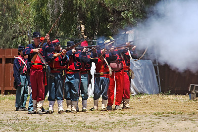 Attacking French Army, Reenactment of the Battle of Puebla, 1862
