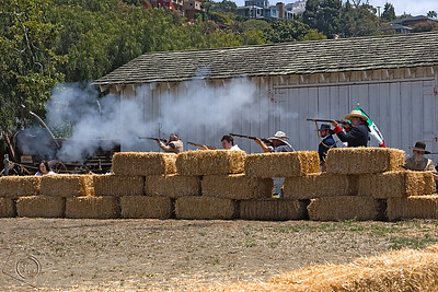 Defending Mexican Army, Reenactment of the Battle of Puebla, 1862
