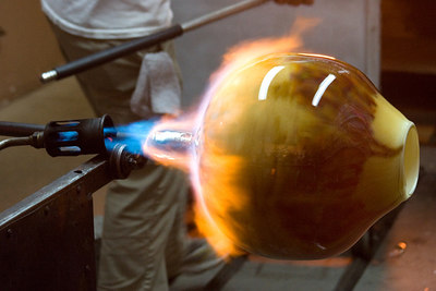 Keeping the heat up with a blowtorch...