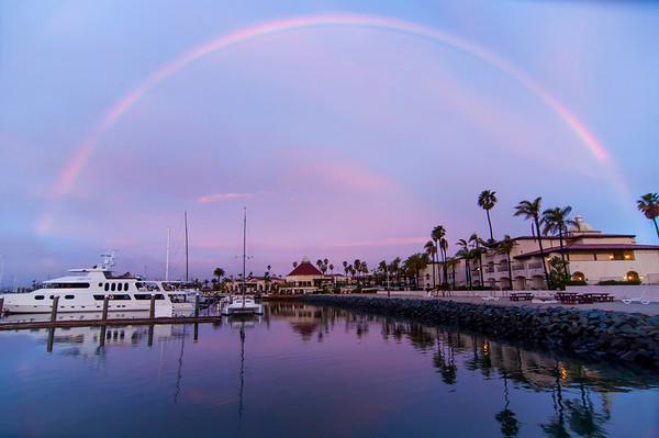 Rainbow above the Marina