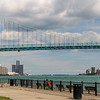 Ambassador Bridge - Detroit Skyline