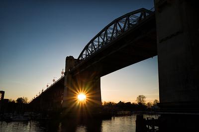 Sunburst at Burrard Bridge