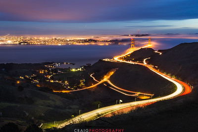 Golden Gate Bridge, nighttime 2