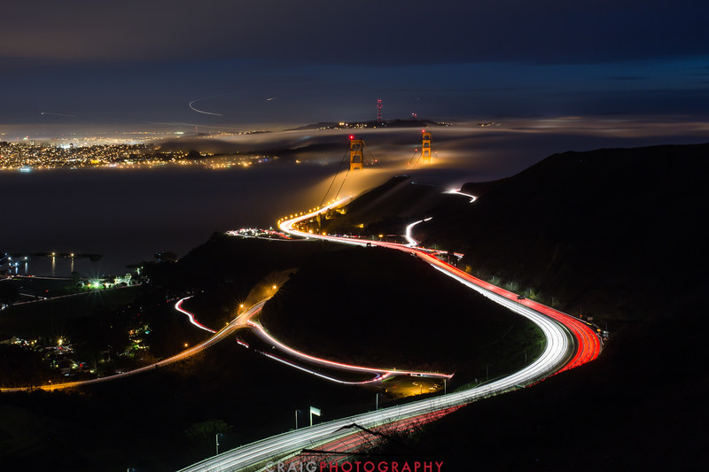 Golden Gate Bridge, nighttime 3