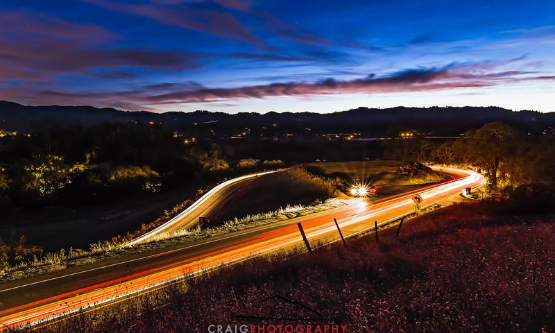 Napa Fall lights near Calistoga 5