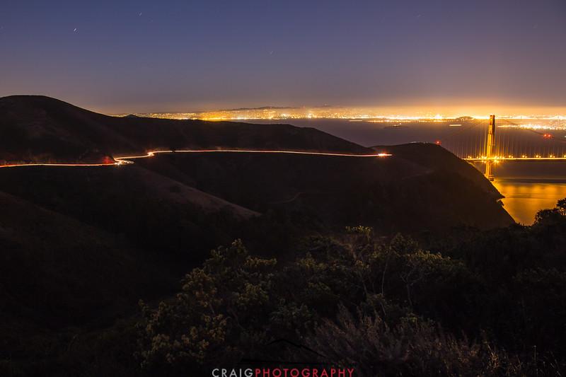 Golden Gate Bridge, nighttime 9