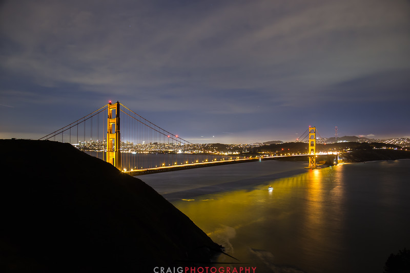 Golden Gate Bridge, nighttime 7