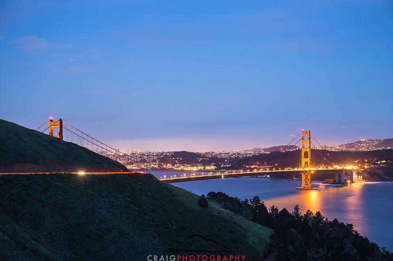 Golden Gate Bridge, nighttime 6