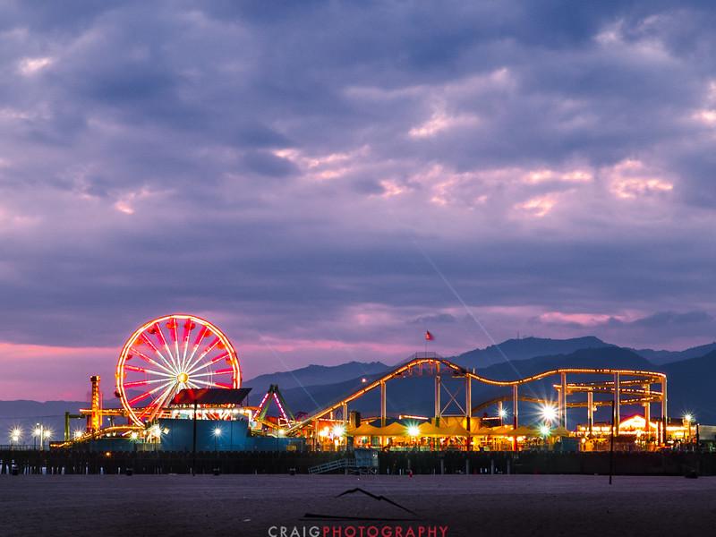 Santa Monica Pier Sunset 3