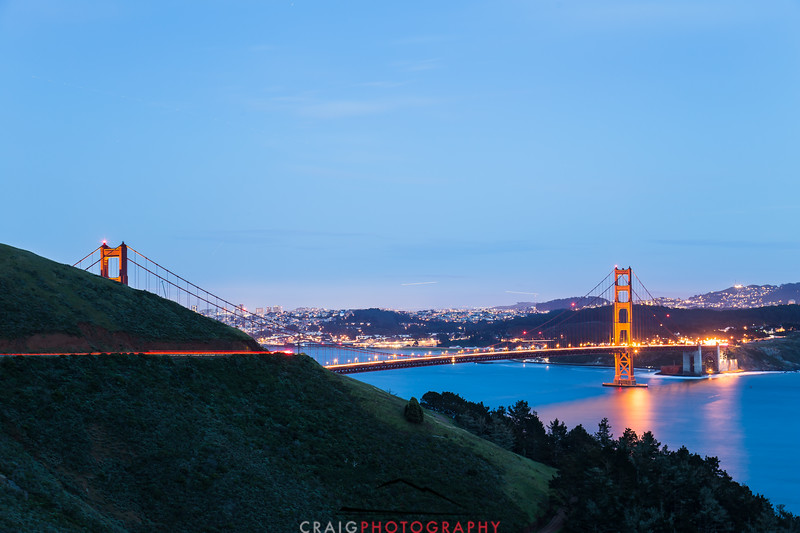 Golden Gate Bridge, nighttime 5