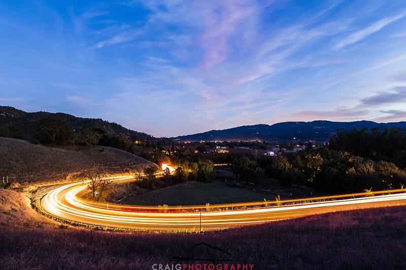 Napa Fall lights near Calistoga 3