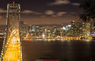 Bay Bridge night