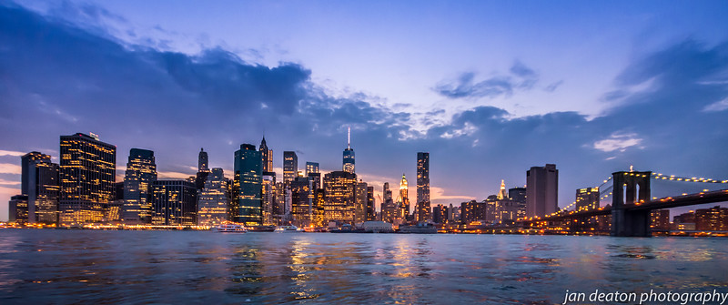 Manhattan Panorama at Night