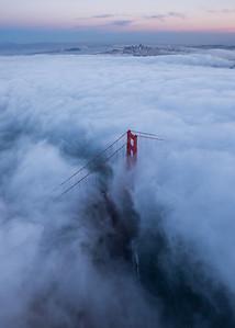 Flying over Golden Gate