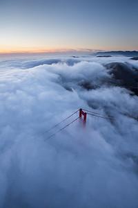 Flying over Golden Gate 3