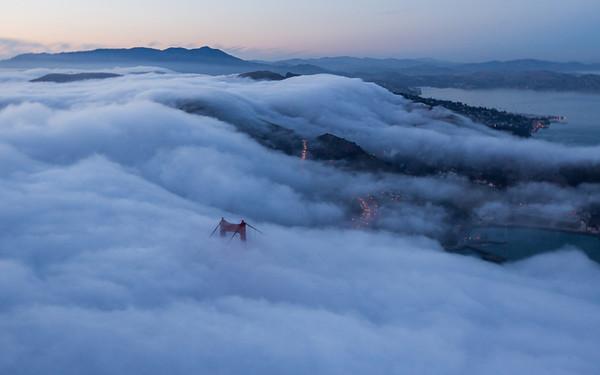 Flying over Golden Gate 4