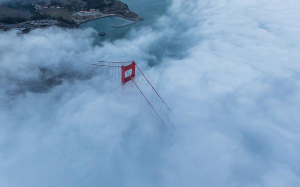 Flying over Golden Gate 2