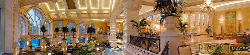 Atlantis Lobby, 3 shot pano.