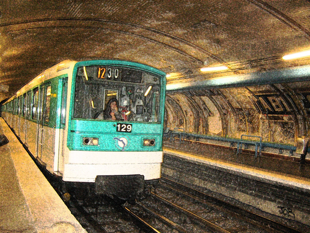 Metro, Paris, France, by Jennifer