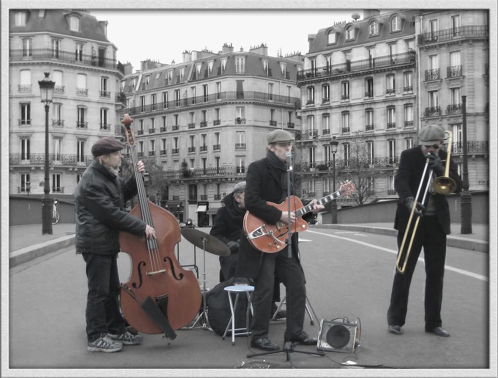Street Musicians, Paris, France, by Jennifer