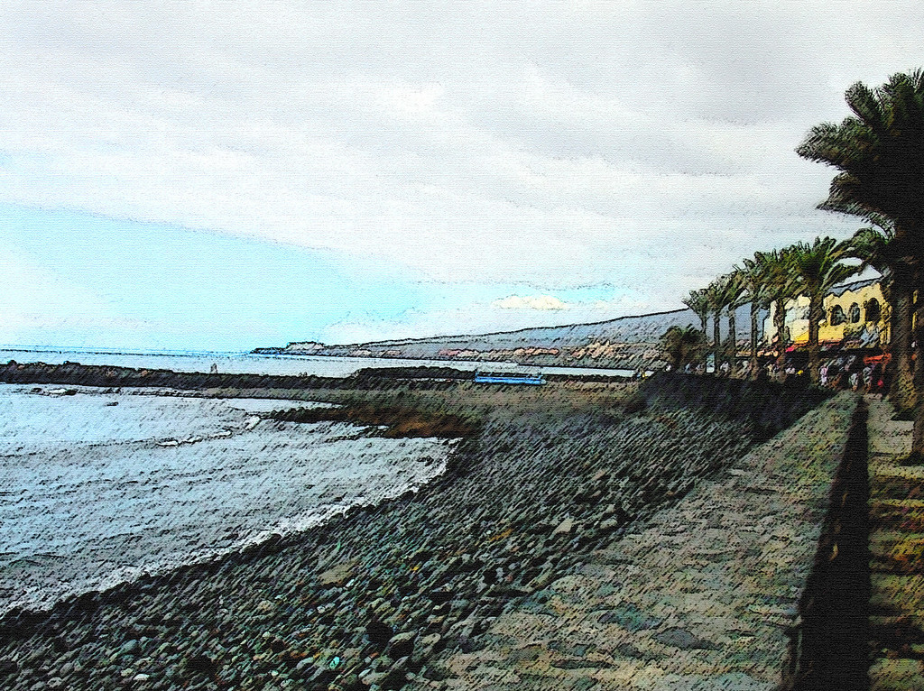 Beach Jetty, Tenerife, Canary Islands, by Jennifer