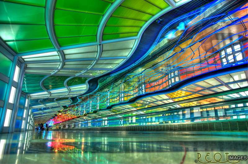 This is actually a tunnel between terminals at Chicago's O'hare airport.<br /> I ran down to shoot it between flights, I only had an hour and it's at the opposite end of the airport.<br /> I remembered it from years ago and wanted to go shoot it as I don't get here that often.