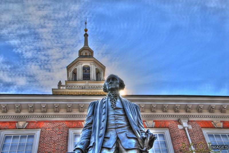 Washington at Independence Hall