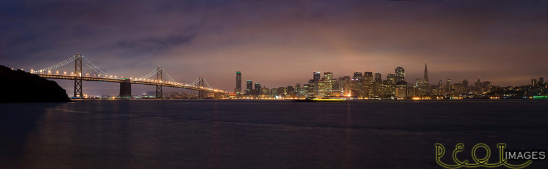 San Fransisco pano<br /> 3 shot Pano from Treasure Island.